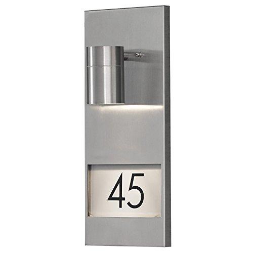 Konstsmide 7655-000 Numéro de maison éclairé avec protection IP44, comprenant 1 ampoule 35 W, en acier galvanisé 16 x 11 x 41 cm