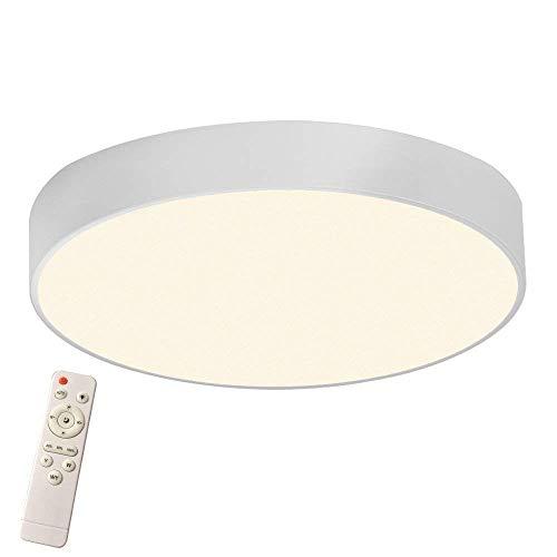 MCTECH LED Deckenleuchte Rund 36W Dimmbar Deckenlampe LED Badlampe Küchenlicht für Kinderzimmer, Schlafzimmer, Flur, Küche, Wohnzimmer - Weiß, Ø 40 cm - Runde 36