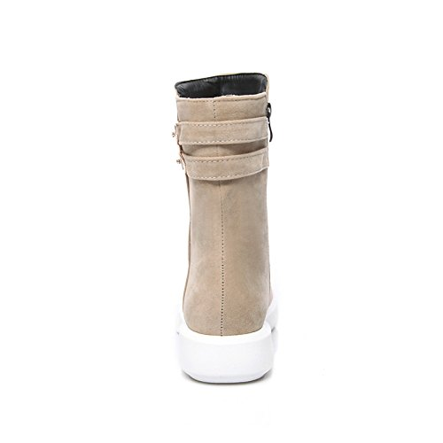 HSXZ Scarpe donna vello Fall Winter Snow Boots Fashion Stivali Stivali Bootie Round Flat Toe stivaletti/stivaletti stivali Mid-Calf per Casual Black