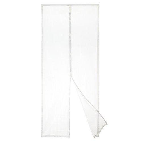 Apalus Magnet Fliegengitter Tür Insektenschutz 92x212cm, Der Magnetvorhang ist Ideal für die Balkontür, Kellertür Und Terrassentür, Kinderleichte Klebemontage Ohne Bohren (Nicht Kürzbar) (Weiß) -