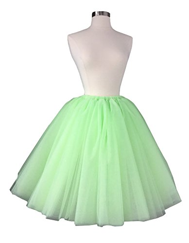 secretcastle da donna – Lunghezza al ginocchio netto gonne gonna in tulle per feste 2016 U595 Mint