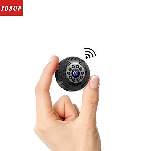 Victure Telecamera Spia Telecamera Mini FHD 1080P Bottone Nascosta Videocamera Spia con Visione Notturna Video Registratore Sorveglianza con Allarme di Movimento Portatile Batteria