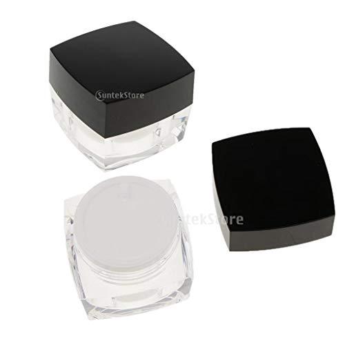 B Baosity 2x 50g Pot Vide en Acrylique Récipient Cosmétique avec Couvercle pour Échantillon de Crèmes Stockage de Maquillage