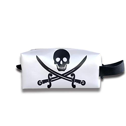 Pirate Skull Travel&Home&Office Portable Make-up Receive Bag Hand Cosmetic Bag with Hanging