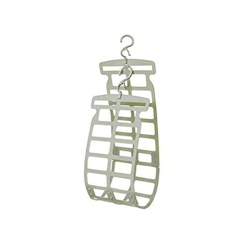 GPFDM Einstellbare Wäscheständer - Doppelhaken Kissen Wäscheständer Mini-Clip - Kreative Winddichte Multifunktionale Kunststoff-Kissen Puppe Plüschtier Kleiderbügel,B (Einstellbar Tuch Rack)