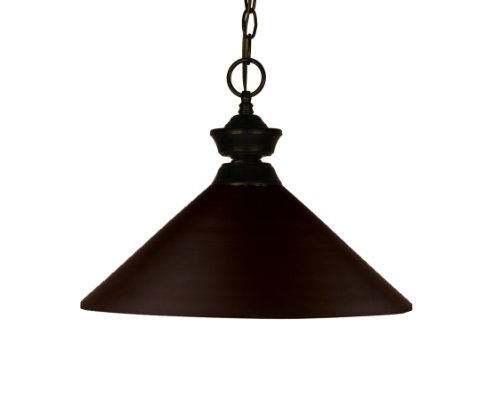 Z-Lite 100701BRZ-MBRZ Shooter One Light Pendant, Steel Frame, Bronze Finish and Bronze Shade of Metal Material by Z-Lite