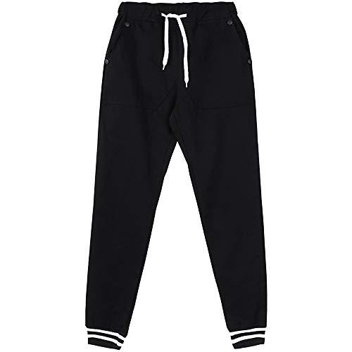 Ginli Pantaloni sportivi uomo cotone Slim Fit Pantaloni allenamento Modell Moda 489