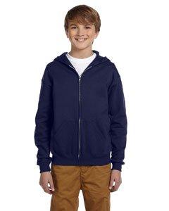 2009 Fleece (Youth 8 oz. NuBlend� Fleece Full-Zip Hood J NAVY M)