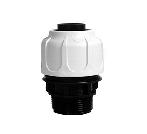 """T.I.P. 30966 Schlauchanschluss Klemmverschraubung 1 ½"""" AG 32 mm für Schwimmbad, Pool und Sandfilteranlagen"""