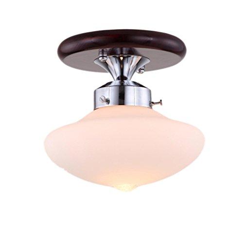 AMZH Creative Natural Wood Aisle Deckenleuchten Treppen Deckenleuchte Study Lamp Durchmesser 23Cm * High 21Cm E27 110V 220V