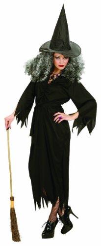 Kostüme Erwachsene Witch (Widmann 02652 - Kostüm Hexe, Kleid, Gürtel und Hut, Größe)