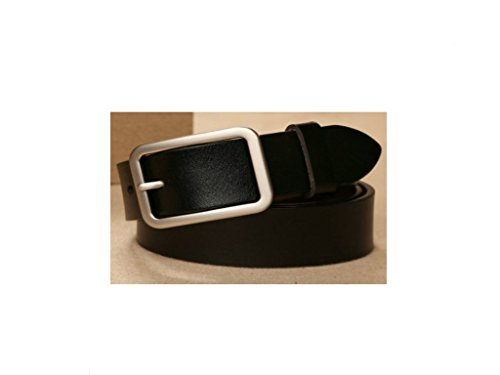EMMACHOU Jeans Belt Female Fashion Wide Simple Versatile Cinturón  Decorativo Casual Ladies Belt, Negro e56d8f1e7d9