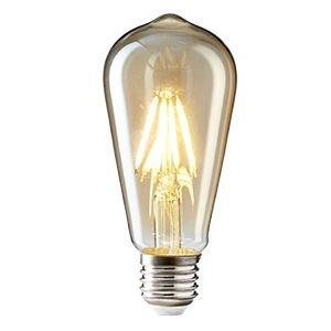 Vintage Edison LED Glühbirne, NUODIFAN 6 x E27 8W Retro Glühbirne Dimmbar Squirrel Cage Stil LED Filament Birne Lampe Amber Glas (800 Lumens, 2700K) Ideal für Dekorative Beleuchtung mit Antike Nostalgie Stil Modell ST64