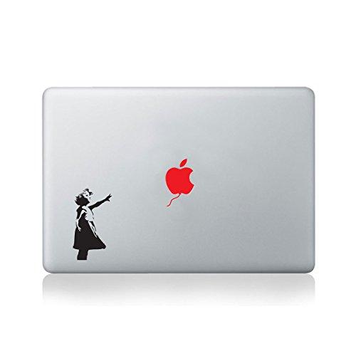 Banksy Little Girl Red Balloon Macbook Sticker / Aufkleber fur Macbook (13 zoll und 15 zoll)