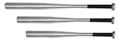 Gummiprodukt Baseballschläger aus Holz oder Aluminium in 4 Längen wählbar (Aluminium Silber, 76cm)