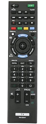 ALLIMITY RM-ED047 Reemplazo de Control Remoto para Sony Bravia TV KDL-32R300B KDL-22BX320 KDL-32BX320 KDL-46BX421 KDL-32BX321 KDL-32BX421 KDL-40BX420 KDL-40BX421 KDL-46BX420 KDL-22BX321 KDL-55BX520