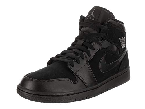 detailed look 676e9 64752 Nike Air Jordan 1 Mid, Zapatillas Altas para Hombre, Negro Dark Grey-Black