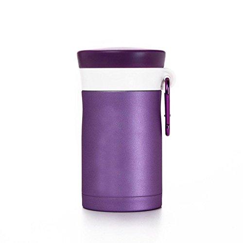550ml Isolierung Gedünstetes Becher-Mittagessen-Isolierungs-Nahrungsmittelflasche Edelstahl-Isolierungs-Schale , lila , 550ml