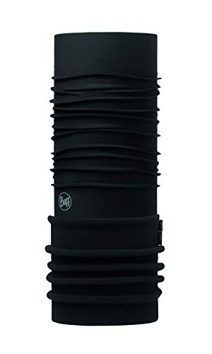 Buff BUF118071.999.10.00 Andere, Solid Black, One Size - Elasthan Stretch-fleece-stirnband