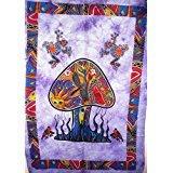 Tradicional Jaipur Tie Dye Mushroom rana pared arte Póster, tapiz hippie, Indian dormitorio...