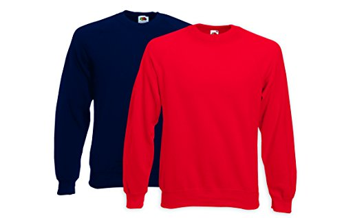 Fruit of the Loom Herren Kapuzenpullover Pack Di Due Felpe, 2 Mehrfarbig (Multicoloured 41)