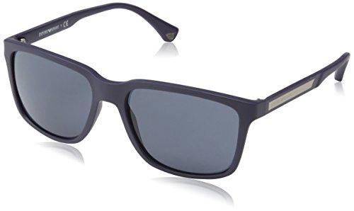 Armani Jeans- Lunette de soleil Mod.4047 - Homme - Bleu (Blue rubber 00e7c66defdf