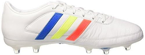 adidas Gloro 16.1 Fg, Scarpe da Calcio Unisex – Adulto Bianco (Ftwr White/solar Yellow/shock Blue)