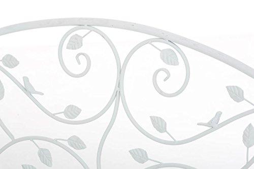 CLP Gartenbank MAGDA im Landhausstil, Eisen lackiert, 106 x 52 cm Weiß - 5