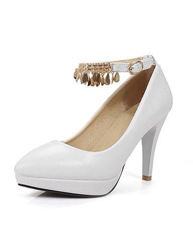 WSS 2016 Chaussures Femme-Bureau & Travail / Décontracté-Noir / Rose / Blanc-Gros Talon-Talons / Bout Pointu-Talons-Polyuréthane black-us9 / eu40 / uk7 / cn41