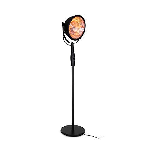 blumfeldt Heatspot Terrassenheizstrahler • Infrarot-Heizstrahler • Outdoor-Heizstrahler • 900, 1500 oder 2000 Watt • IR ComfortHeat • Carbon-Heizelemente • Kippschutz • IP54 • Außengebrauch • schwarz