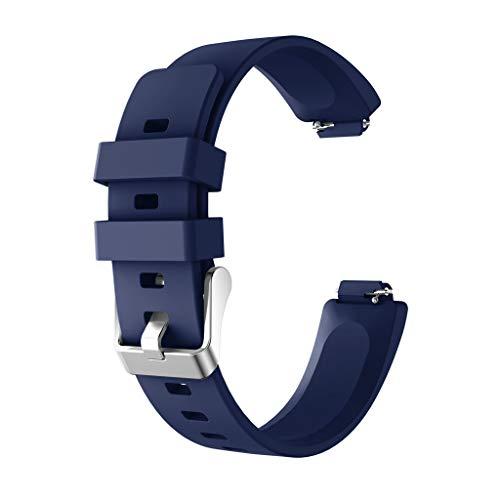 Damen Herren Sport Silikon Armband für Fitbit Inspire/Inspire HR Unisex Ersatzarmband Fitness Tracker Band in Grau, Braun, Hot Pink, Mintgrün, Navy, Rot, Weiß ()