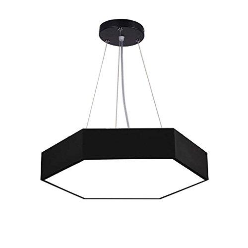 Moderne minimalistische Kombination von kreativen Decken Kronleuchter Office Shopping Malls Wohnzimmer Projekt führte sechseckigen Bürolampen, 60CM
