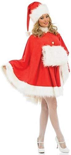 Fancy Me Damen Sexy Mrs Weihnachten Weihnachtsmann Umhang Muff Kostüm Hut 8-22 Übergröße - Rot, UK 20-22 (Übergröße Sexy Santa Weihnachten Kostüm)