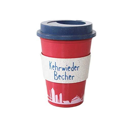 JKKC Bohnenwurm Neue Stroh Bambusfaser Kaffeetasse Plastikbecher mit Deckel Tasse Ring Tasse Tasse Handschale