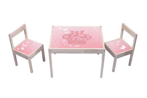 Stikkipix Pink Princess Butterfly Aufkleber - KA08 - (Möbel nicht inklusive) - Möbelsticker passend für die Kindersitzgruppe LÄTT von IKEA