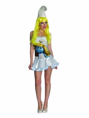 Die Schlümpfe Kostüm Erwachsene Schlumpfine Sexy Gr. S 34 -36 Rubies ArtNr. 3887547
