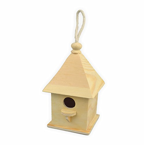 Creleo 791656 Vogelhaus zum bemalen quadratisch h=20,5 cm 11 x 11 cm