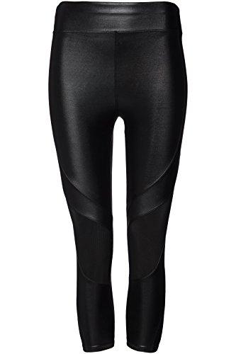 FIND Damen Capri-Sport-Leggings, Schwarz (Black), Small