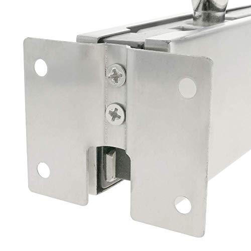 31LtWF2s0KL - PrimeMatik - Pernio y bisagra Fija Superior de Aluminio para Puerta de Cristal para cierrapuertas de Suelo