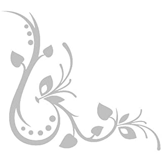 Flower Etched Effect,Frosted Vinyl Window Sticker (#13)