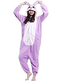 e558f264ae Unisex Animal Pijama Ropa de Dormir Cosplay Kigurumi Onesie Conejo Disfraz  para Adulto Entre 1