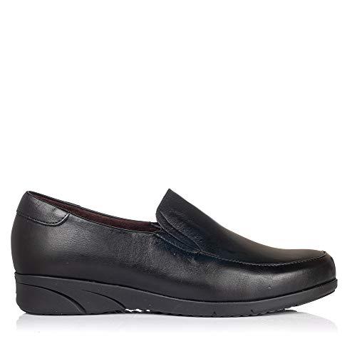 PITILLOS 2970 Zapato Mocasin Piel Mujer Negro 38