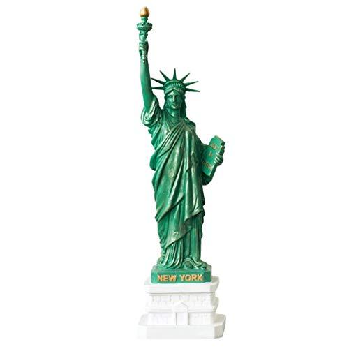 New York City Party Supplies, Freiheitsstatue Statue Geschenk mit Kupfer, Freiheitsstatue Souvenir Figuren, Kunstharz, grün (Size : 13X60CM) (New York City, Party Supplies)