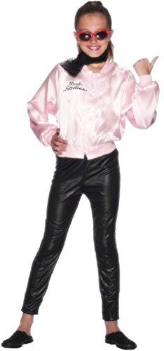 Rosa Kostüm Damen Jacke Fett - Fancy Me Mädchen 1950s Jahre Fett rosa Dame büchertag Kostüm Kleid Outfit 3-12 Jahre - Rosa, Rosa, 10-12 Years