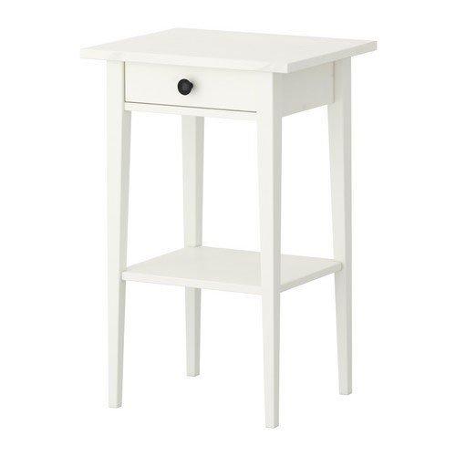 Ikea HEMNES–Mesita de Noche–46x 35centímetros–Color: Blanco