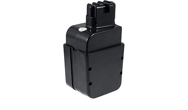 12,0V 2000mAh//24Wh NiMH Schwarz Stift-Kontakte Akku für metabo Typ 6.31723.00