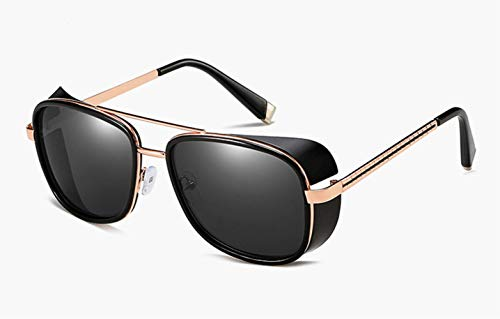 eve Iron Man 3 Matsuda Tony Stark Sunglasses Men Rossi Coating Retro Vintage Designer Sun Glasses schwarz