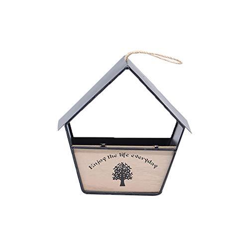 Namgiy Pot de Fleurs à Suspendre pour intérieur ou extérieur 20 cm x 20 cm, Noir 1, 20cm*20cm