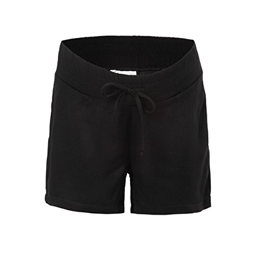 2HEARTS Leichte Umstands-Shorts Umstandshose Schwangerschaftshose, Größe 36, schwarz