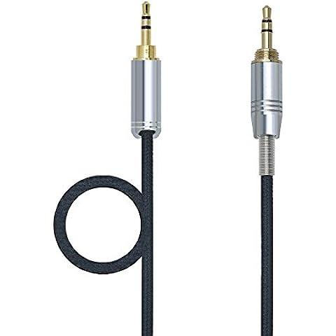 gotor® Negro Blanco Reemplazo Cable de Audio para Quiet Comfort 25 QC25 AE2 AE2i AE2w Auriculares (1,2m)
